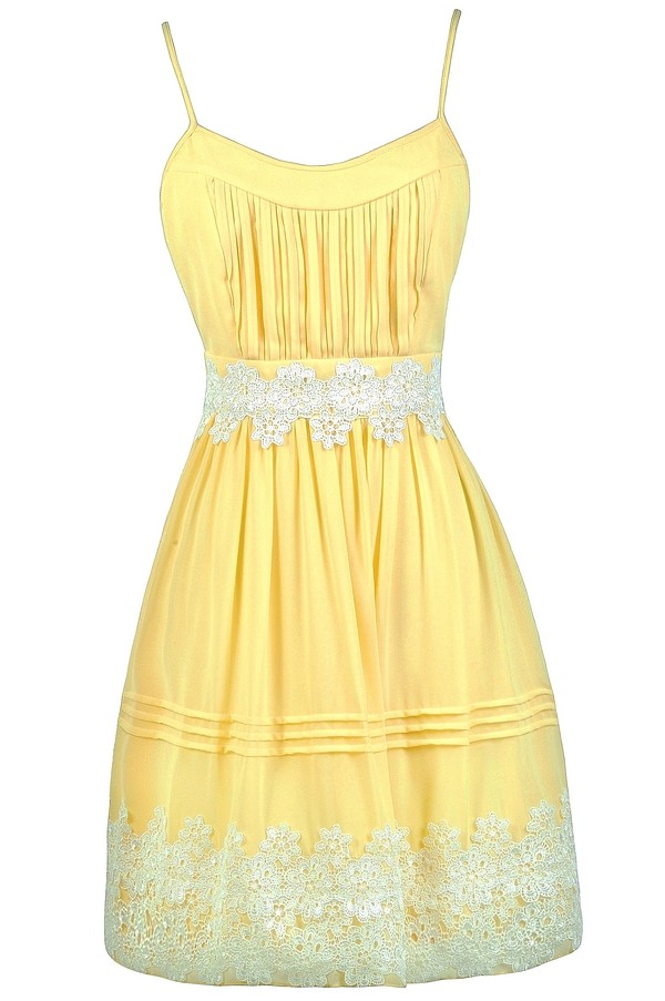 yellow and off white crochet dress yellow aline dress