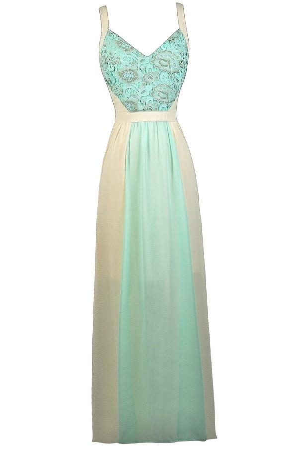 Blue and Cream Maxi Dress, Sky Blue Maxi Dress, Sky Blue and Ivory ...