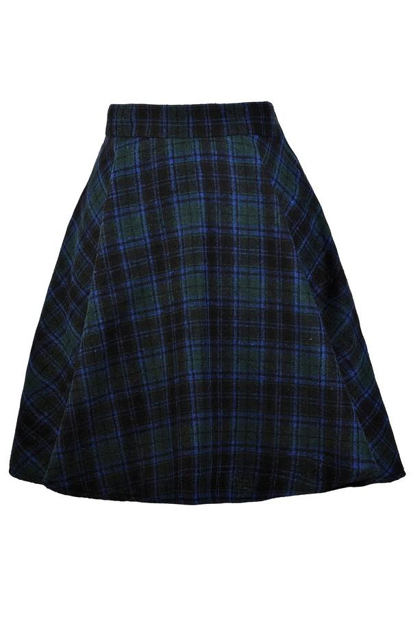 green and blue plaid skirt tartan plaid skirt