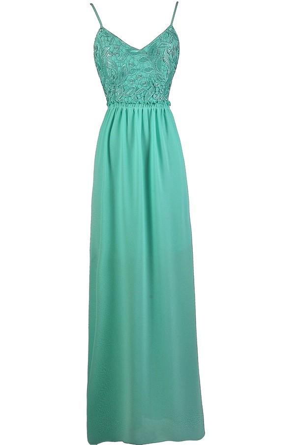 ec8e38faec9 Teal Lace Open Back Dress