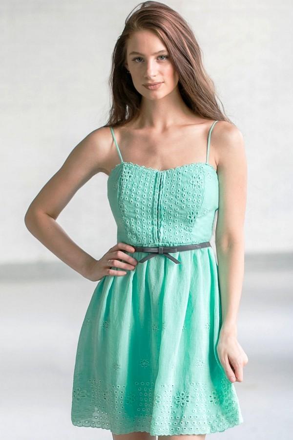 Cute Mint Dress Online Boutique Dress Belted Mint