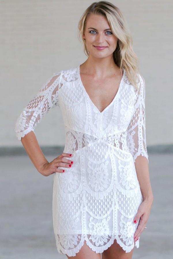 white lace pencil dress cute white lace dress online