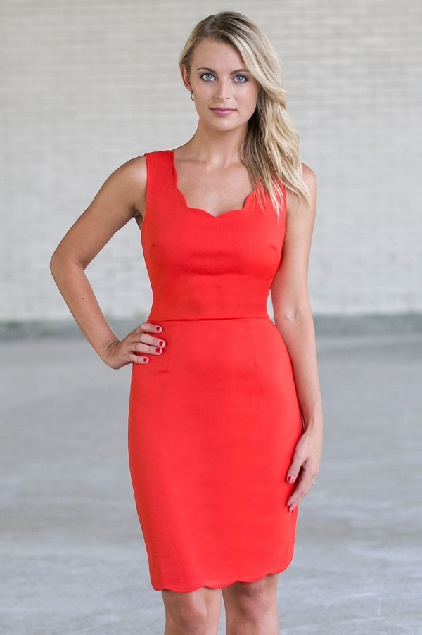 Lily Boutique Red Pencil Dress Cute Red Dress Red Dress Boutique ...