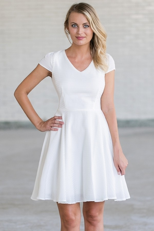 Cute White A-Line Dress | White Summer Party Dress | White ...