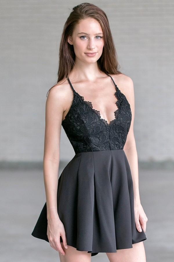 Black Crochet Romper Cute Black Romper Cute Summer Outfit Lily