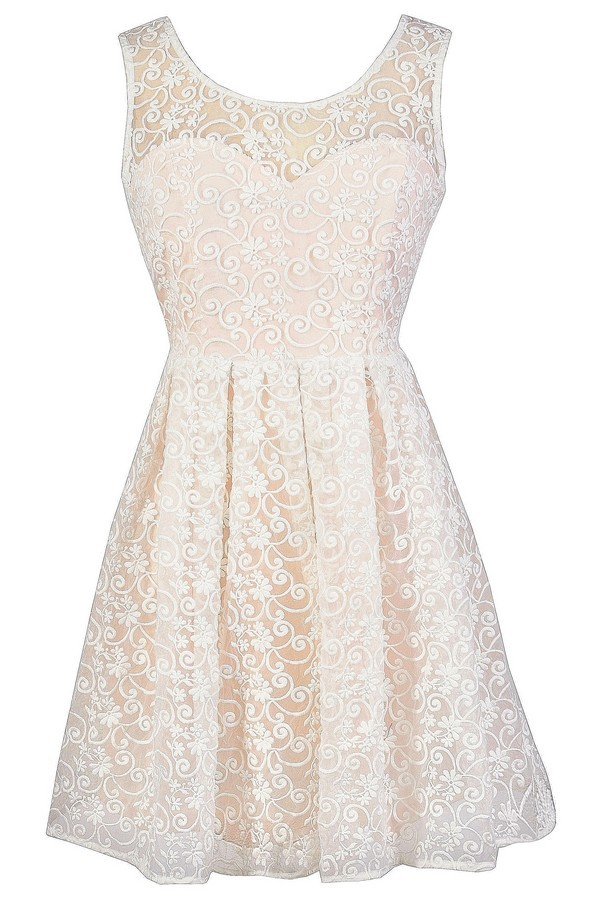 ivory and champagne lace dress cute ivory aline dress aline ivory lace dress champagne lace summer dress lace rehearsal dinner dress lace bridal
