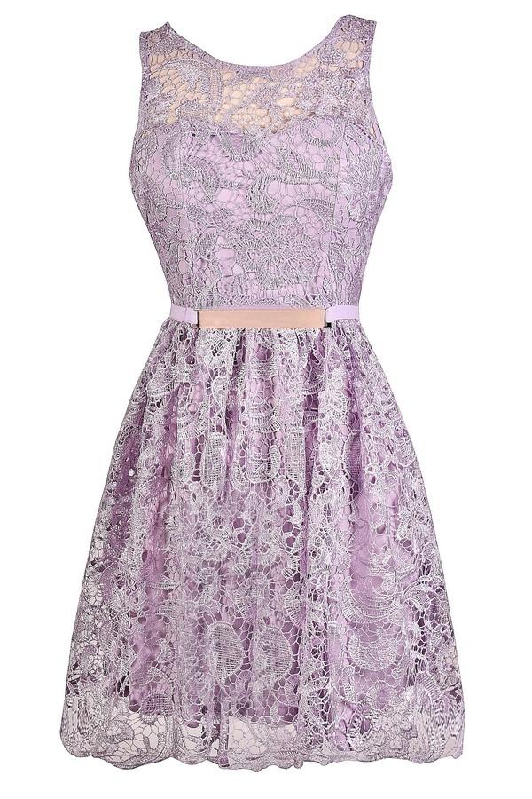 Purple Lace Dress, Lavender Lace Dress, Lavender Bridesmaid Dress ...