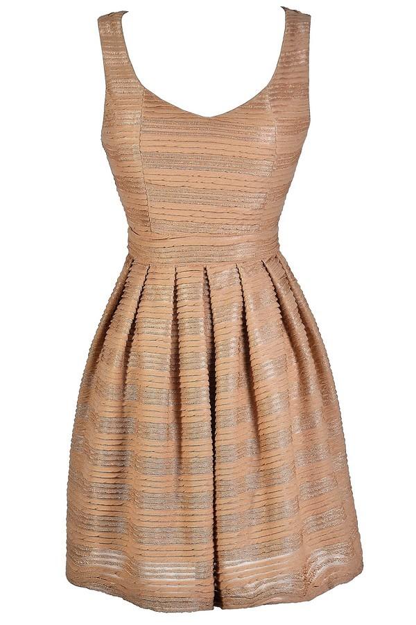 a98bcbfb0 Mocha Party Dress, Mocha A-Line Dress, Cute Cocktail Dress, Cute Party