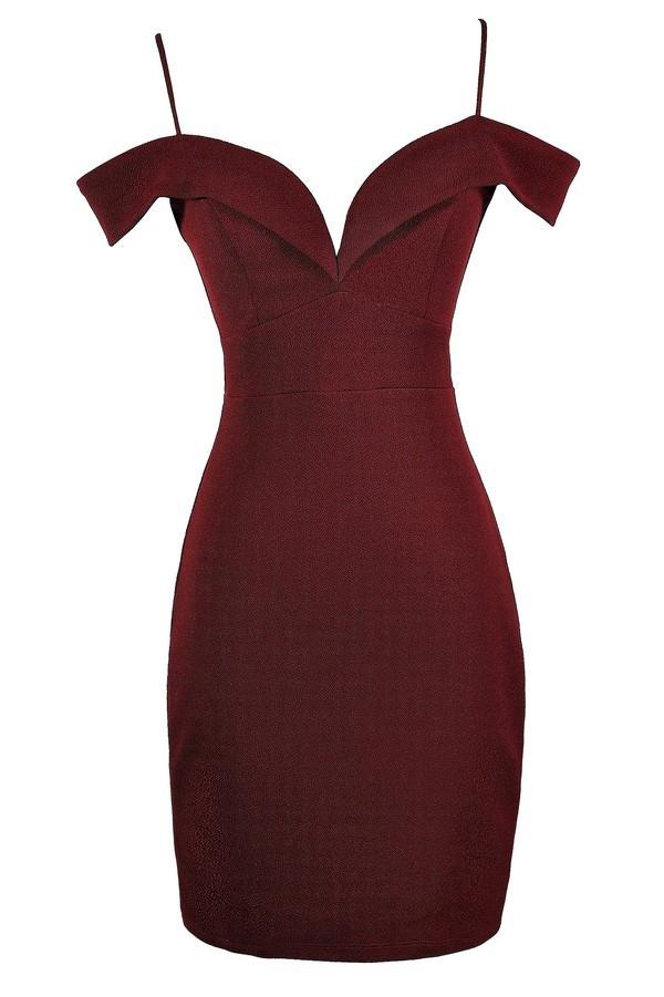 acbbf8b41d12 Burgundy Off Shoulder Dress, Burgundy Off Shoulder Pencil Dress, Red Off  Shoulder Dress, Red Off Shoulder Pencil Dress, Burgundy Cocktail Dress, ...
