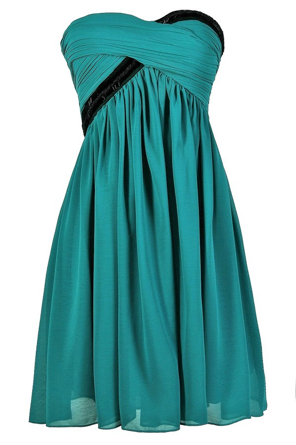Turquoise And Black Dress Teal And Black Dress Turquoise