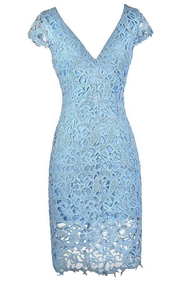 Pale Blue Lace Dress Sky Blue Lace Dress Baby Blue Lace