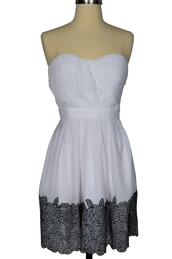 Coming up roses white and black chiffon designer dress by for 31 twenty five boutique