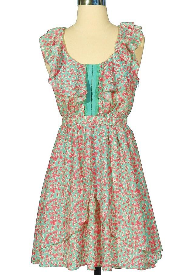 Amaze mint floral print ruffle dress lily boutique for 31 twenty five boutique