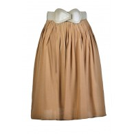 Caramel A-Line Skirt, Taupe A-Line Skirt, Flowy A-Line Skirt, Light Brown A-Line Skirt, Cute Summer Skirt, Cute Fall Skirt, Belted A-Line Skirt, Flowy A-Line Skirt