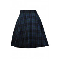 Blue and Green Plaid Skirt, Tartan Plaid Skirt, Scottish Plaid Skirt