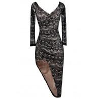 Black Lace Party Dress, Black Lace Cocktail Dress, Cute Little Black Dress