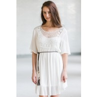 White Boho Dress, Cute Summer Dress