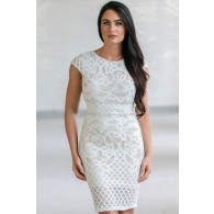 Mint Lace Capsleeve Pencil Dress, Cute Mint Lace Cocktail Dress, Online Boutique Dress