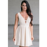Ashton A-Line Dress in Ivory