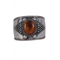 Silver Cuff Stone Bracelet