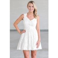 Ivory Lace A-Line Dress, Cute Summer Dress Online
