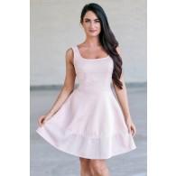 Pink A-line party dress, Cute Juniors Dress