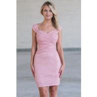 Pink lace sheath dress, Cute pink juniors bodycon dress