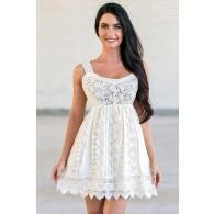 Bohemian Babydoll Crochet Lace Cotton Dress