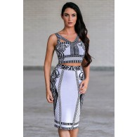 Brielle Black and White Pattern Two Piece Set