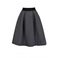 Quilted Grey Skirt, Grey A-Line Skirt, Cute Grey Skirt, Cute Fall Skirt, Cute Winter Skirt, Grey A-Line Skirt, Grey Flare Skirt