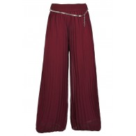 Burgundy Red Wide Leg Holiday Pants