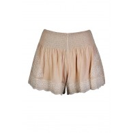 Cute Beige Shorts, Beige Embroidered Shorts, Beige and Ivory Shorts, Cute Summer Shorts, Cute Beige Shorts