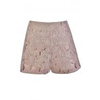 Mocha Blush Lace Shorts, Blush Floral Crochet Lace Shorts, Cute Summer Shorts