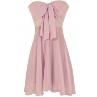 Oversized Bow Chiffon Dress in Lavender