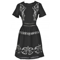 Prairie Angel Dress In Black