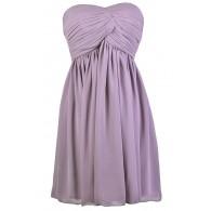 Cute Purple Dress, Purple Strapless Dress, Purple A-Line Dress, Purple Party Dress, Purple Cocktail Dress, Purple Chiffon Dress