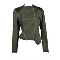 Black and Olive Green Jacket, Cute Fall Jacket