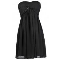 Cute Little Black Dress, Beaded Black Dress, Black Strapless Dress, Black Cocktail Dress, Black Party Dress