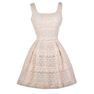 Ivory Lace A-Line Party Dress