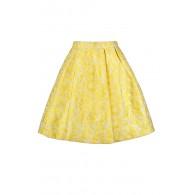 Yellow A-Line Skirt, Cute Yellow Skirt, Yellow Summer Skirt