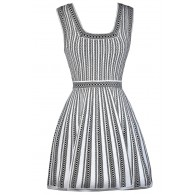 Black and White Stripe Dress, A-Line Dress, Online Boutique Dress