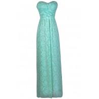 Seafoam Green Maxi Bridesmaid Dress, Mint Maxi Dress, Cute Mint Dress