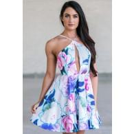 Cute Floral Print Sundress, Boutique Dresses Online, Ginger Fizz Printed Dress