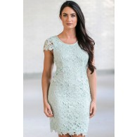 Cute Mint Lace Dress, Mint Lace Sheath Dress, Mint Online Boutique Dress, Mint Bridesmaid Dress