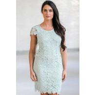 Cute Mint Lace Dress, Mint Lace Sheath Dress, Mint Online Boutique Dress, Mint Bridesmaid Dress