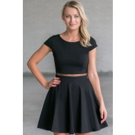 Separate Matters Mesh Waistband Dress in Black