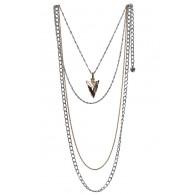 Gold and Silver Arrowhead Pendant, Cute Boho Jewelry