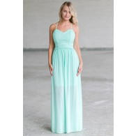 Mint Lace Maxi Dress, Cute Juniors Online Boutique Dress, Summer Dress