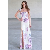 Cute Pink and Cream Maxi Dress Online, Juniors Maxi Dress