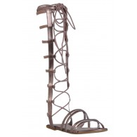 Metallic Gold Gladiator Sandals, Lace Up Gladiator Sandals